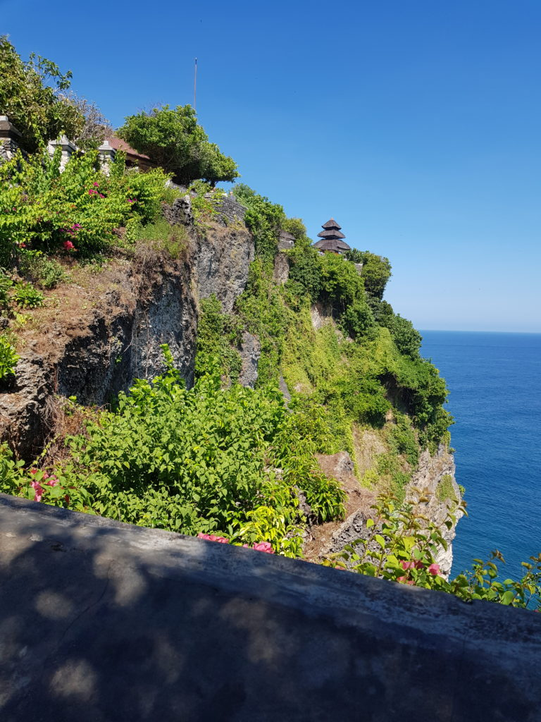 Uluwatu temple cliff side