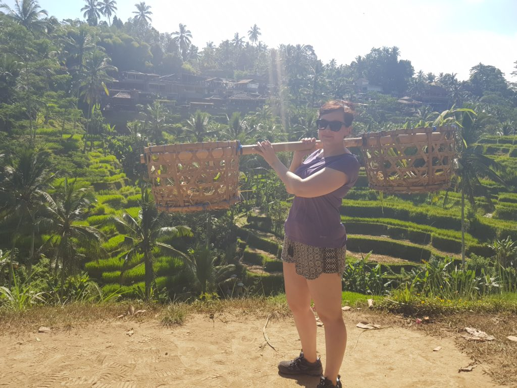 posing at Ubud rice terrace
