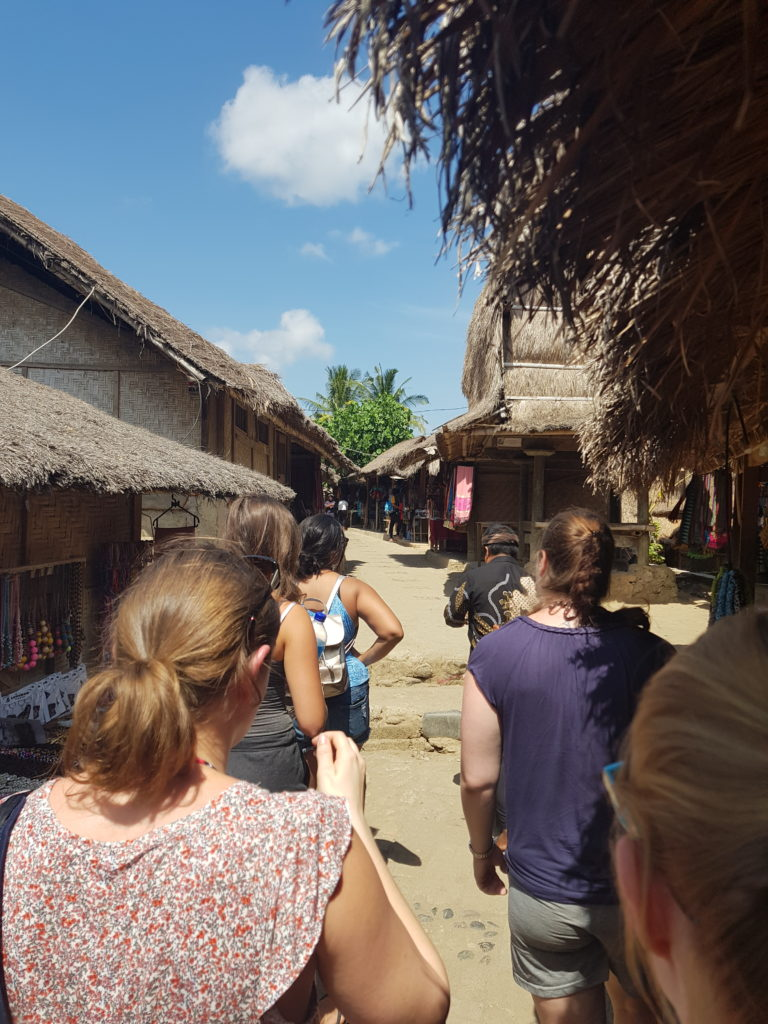 village tourists