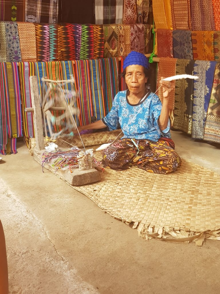 woman sowing cloth