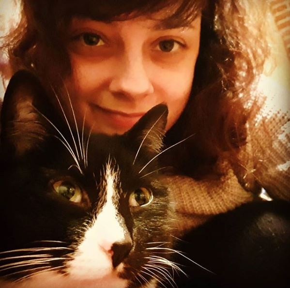 Me with my cat Mittens