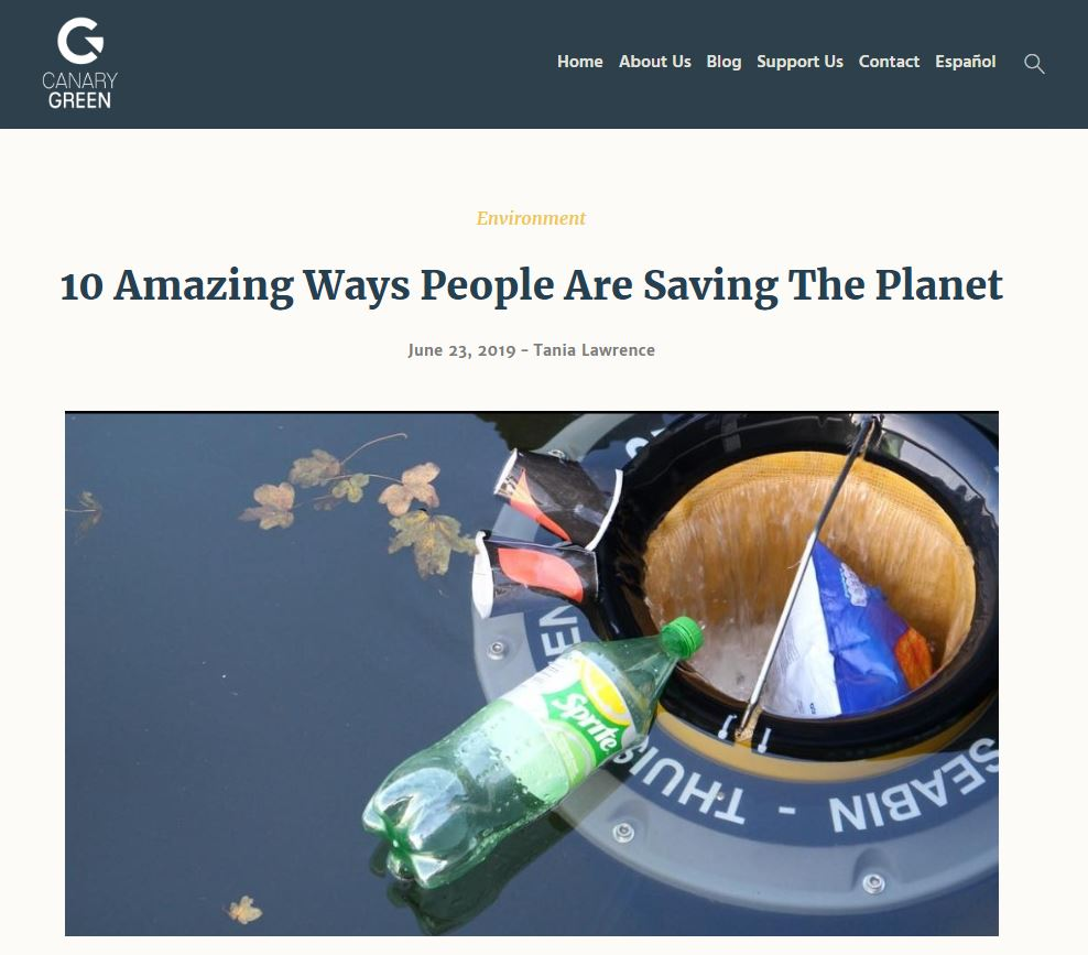 Climate article on Canary Green website for portfolio